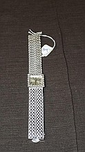 14 kt White Gold & Diamond Ladies Wristwatch.