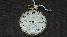 Elgin. Art Nouveau 14 kt Yellow Gold Pocketwatch.
