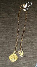 14 Kt Yellow Gold Necklace with Charms.