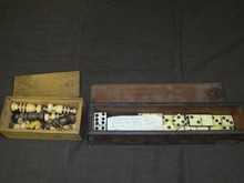 Civil War Era Dominoes & Chess Set Pieces