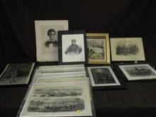 Lot of Civil War Era Paper Ephemera & More