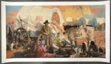 """John Young Hunter, """"Old Santa Fe Trail"""" Poster"""