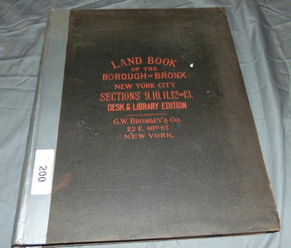 Bromley  Land Book of the Bronx