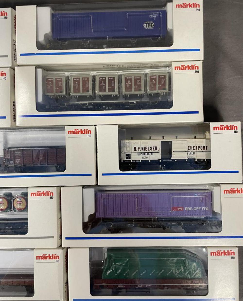 11 Assorted Marklin HO Freight Cars