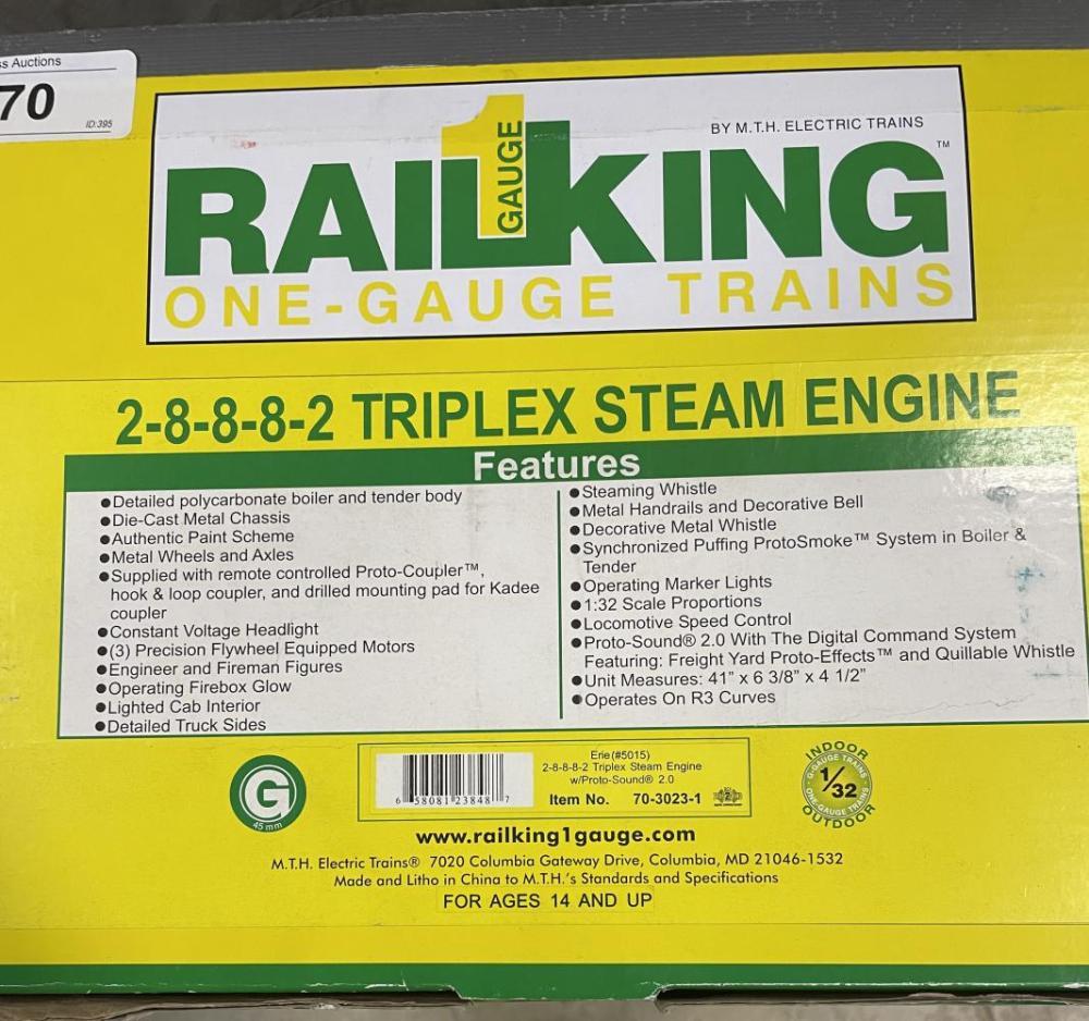 MTH 70-3023-1 Erie TriPlex