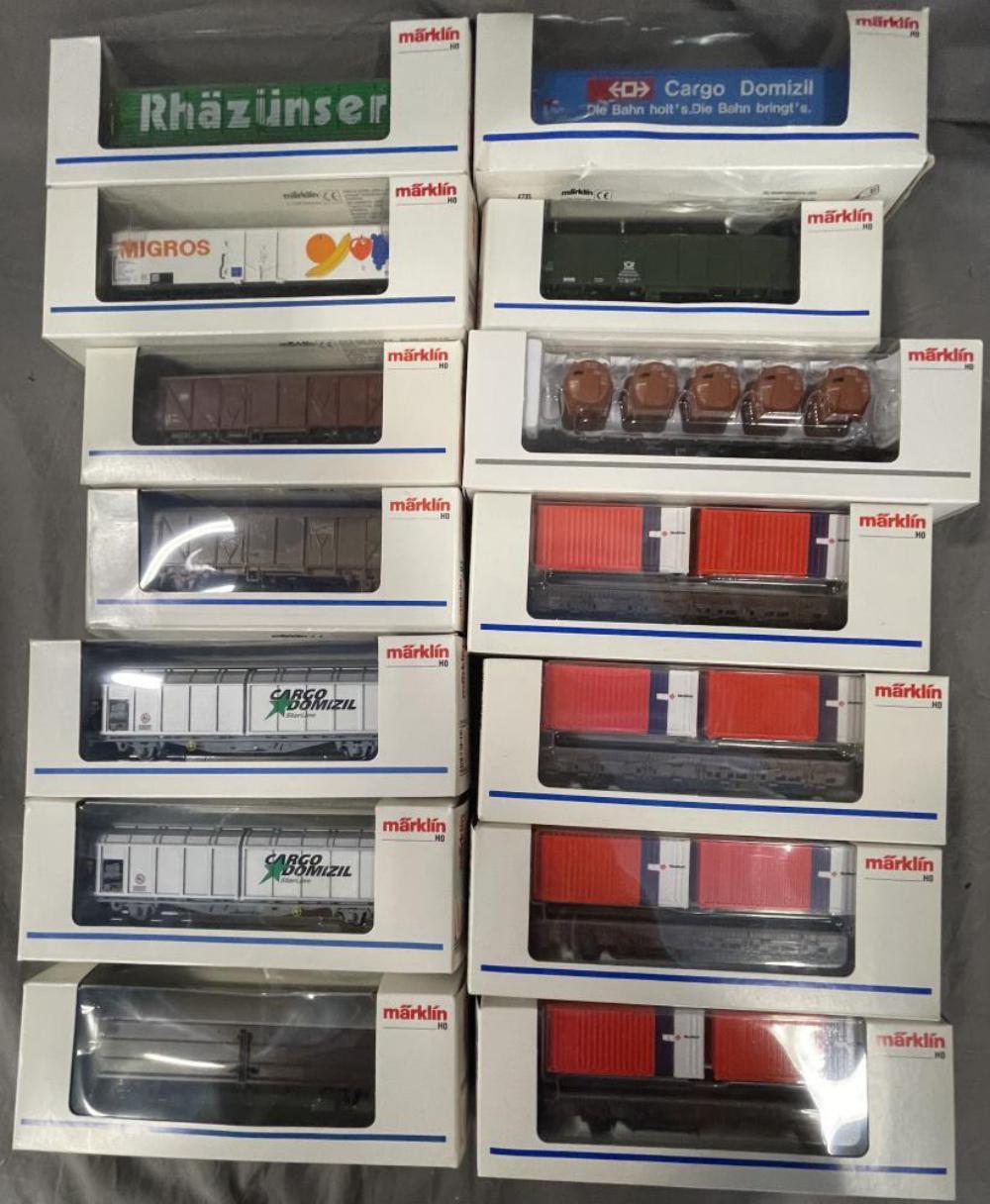14 Marklin HO Freight Cars