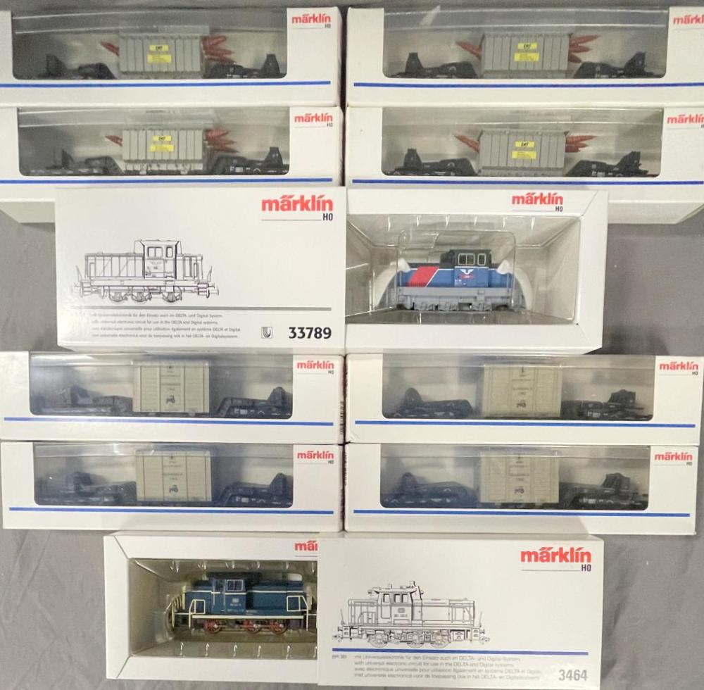 2 Marklin HO Diesel Freight Trains