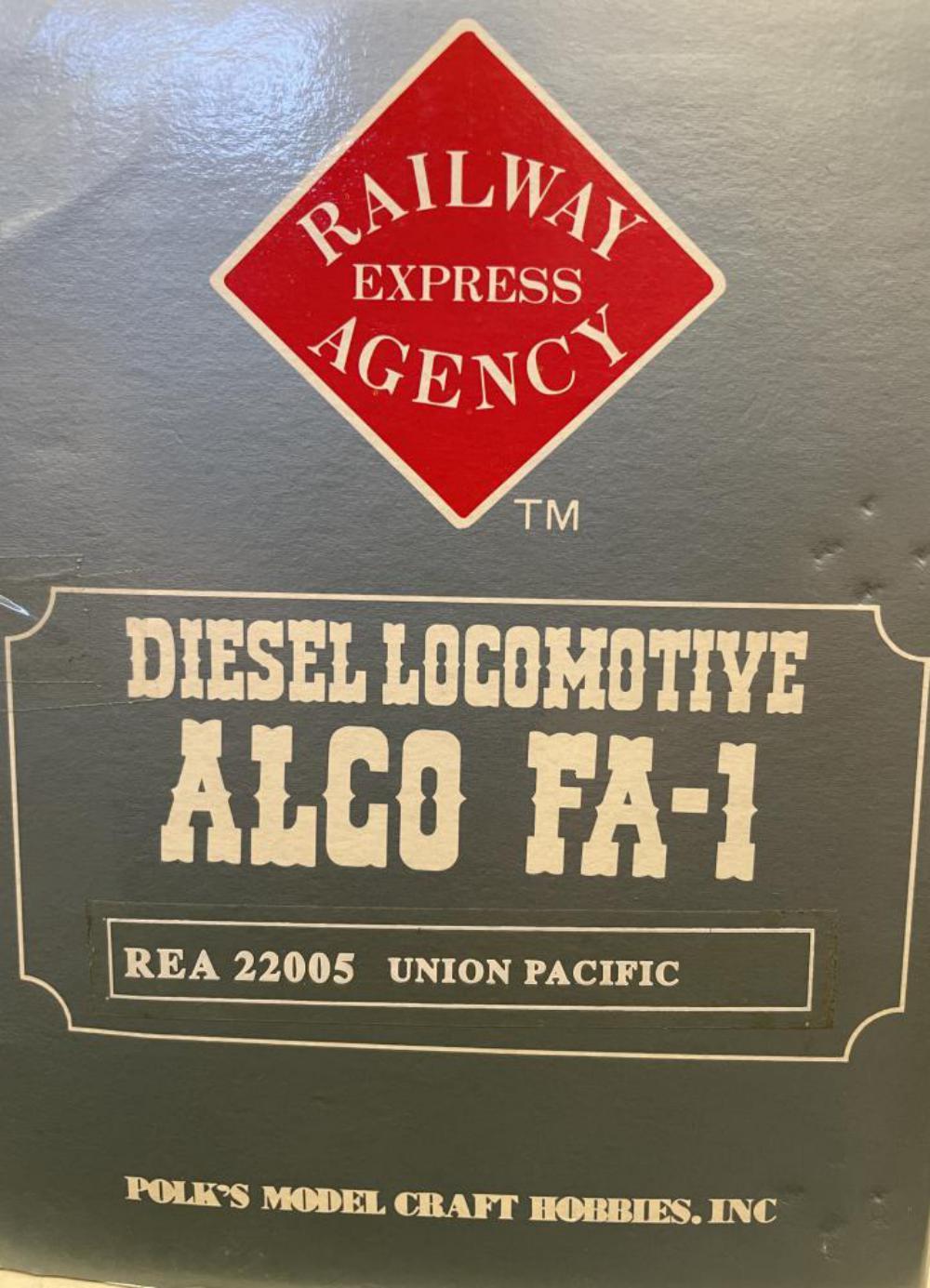 REA G Gauge 22004 UP FA-1 Diesel