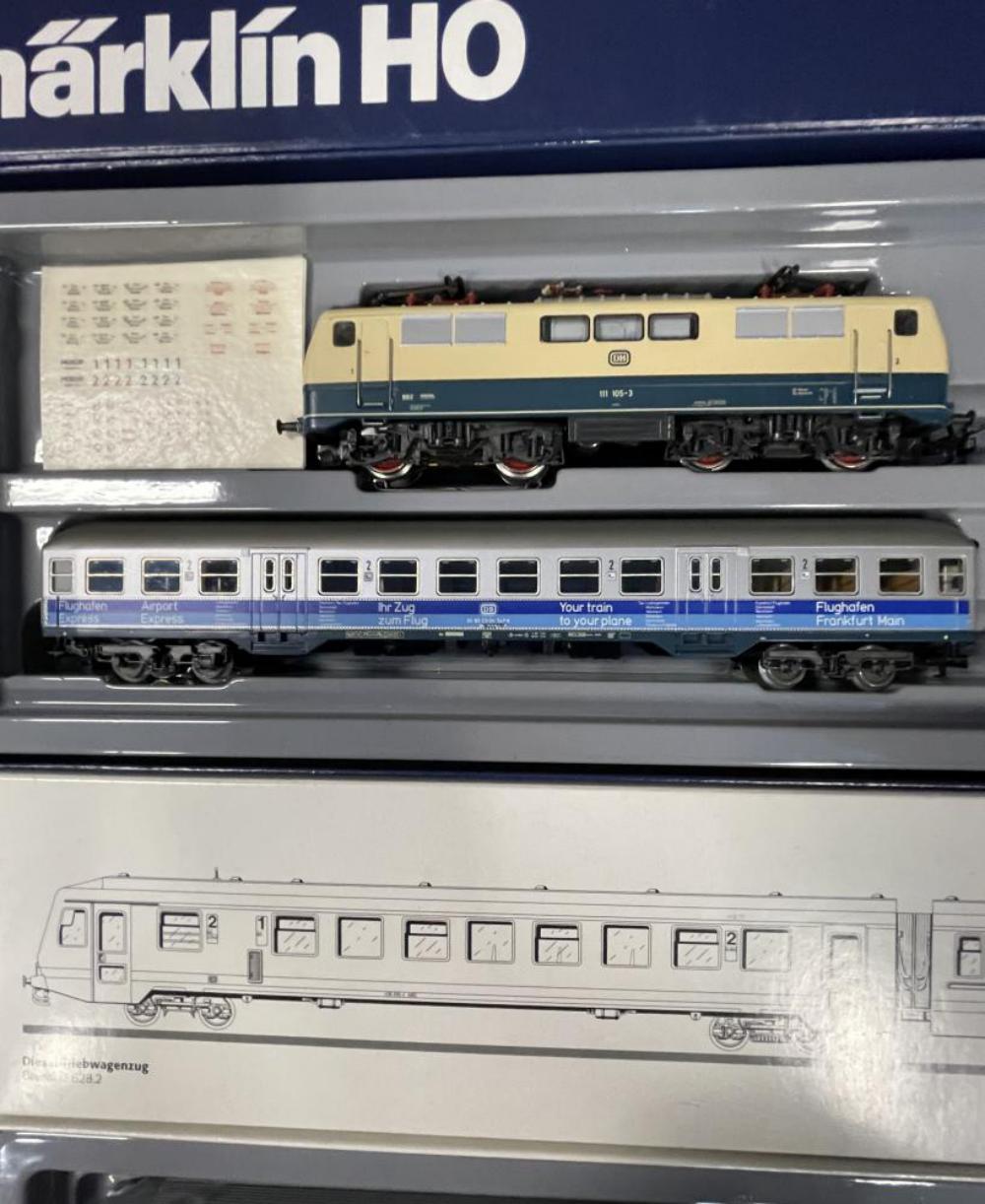 2 Marklin HO Commuter Sets