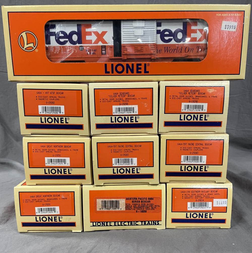 10 Lionel 6464 Series Boxcars