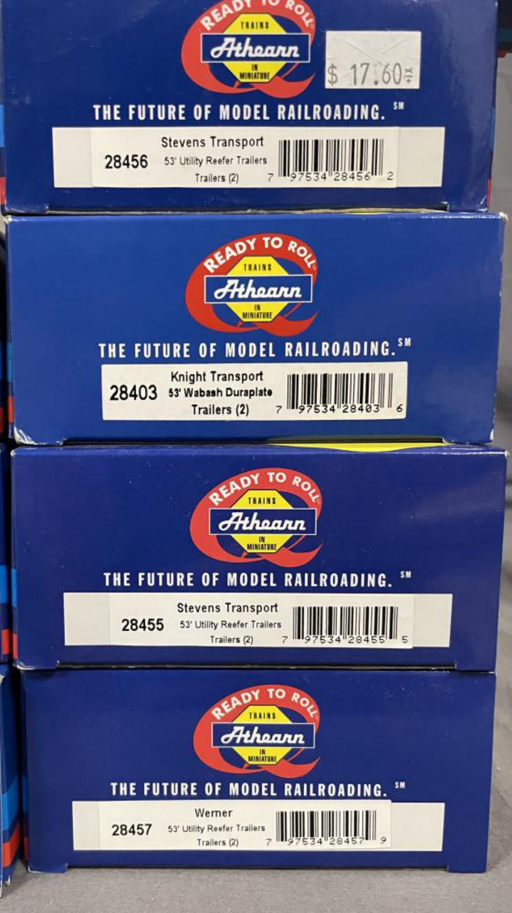12 Athearn 53 ft Utility Trailers