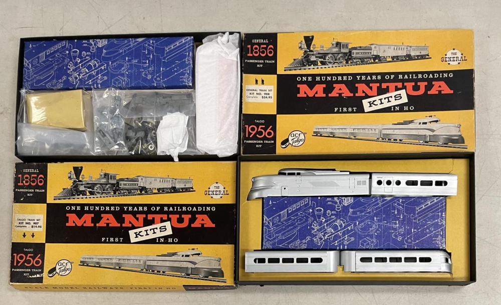 2 Scarce Boxed Tyco HO Mantua 1956 Anniv Kit Sets