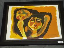 Oswaldo Guayasamin Artist Proof Lithograph