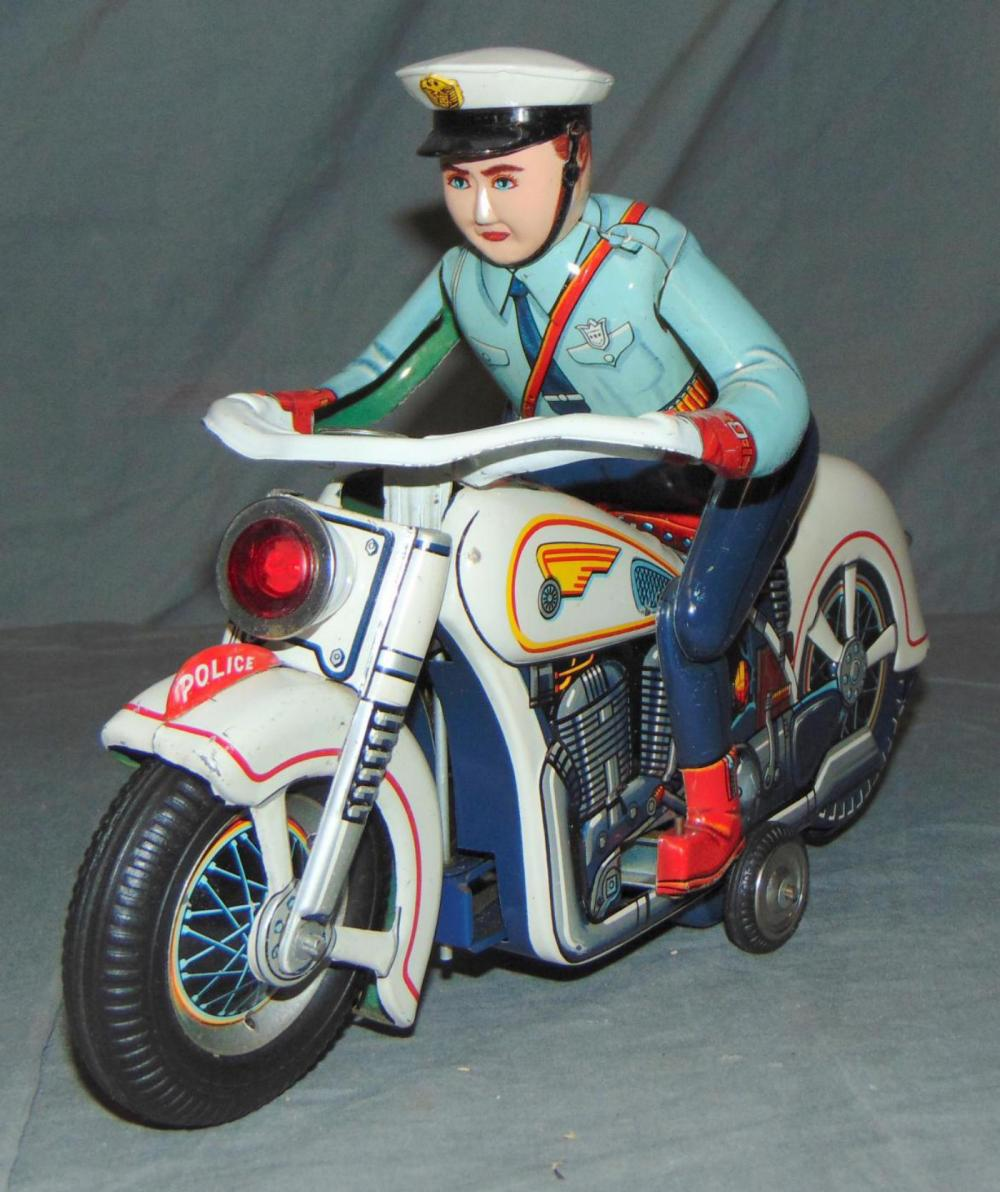 Battery Operated Police Motorcycle Toy, Japan