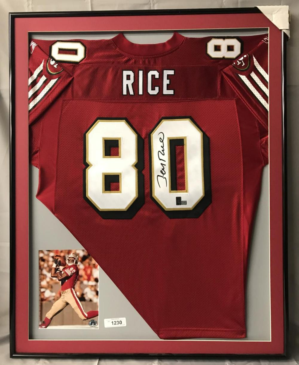 promo code 8d11b 71fd9 Jerry Rice Signed San Francisco 49ers Jersey