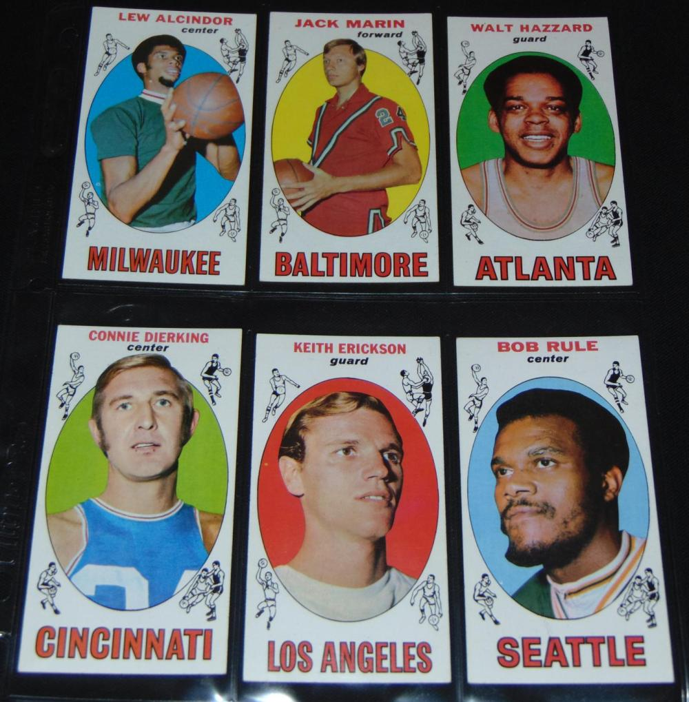 1969 70 Topps Basketball Card Set