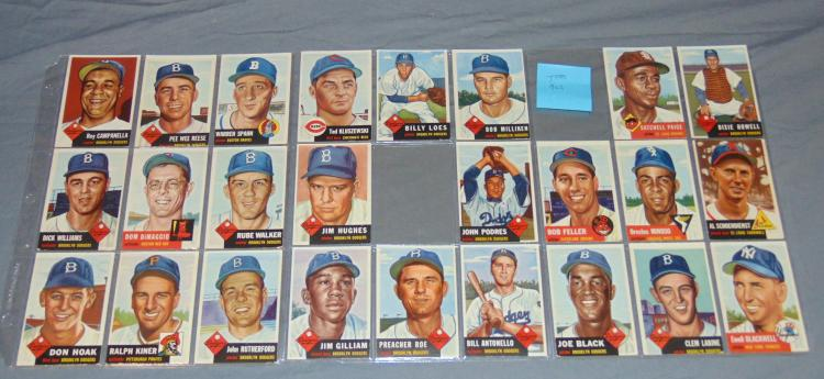 1953 Topps Estate Card Lot.