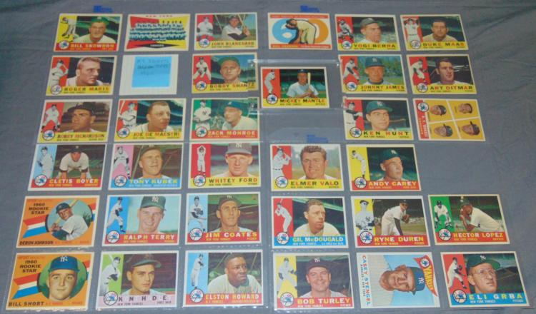 1960 Topps Card Lot. Yankees.