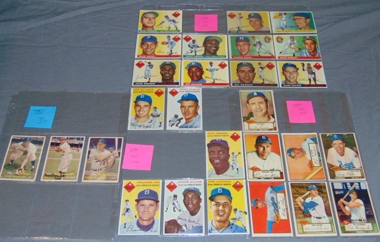 1950's Topps Card Lot.