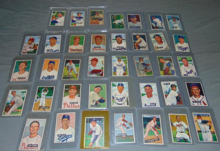1951 & 1952 Bowman Card Lot