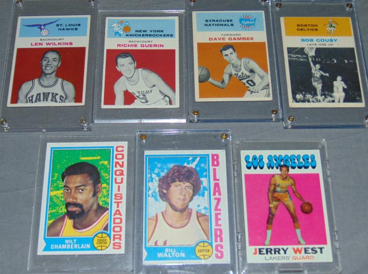 Vintage Basketball Star Card Lot
