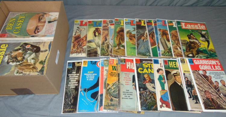 Large Dell Comics Lot, Lassie, Western, Movie, Etc