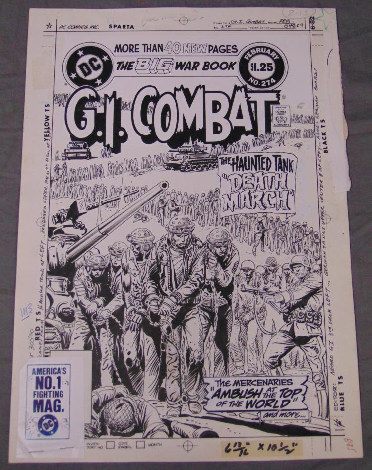 Joe Kubert. Original Cover Art GI Combat 274.