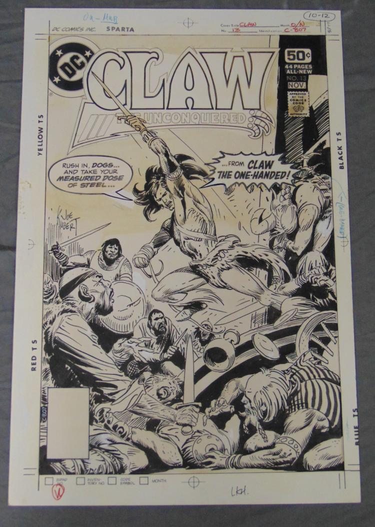 Joe Kubert. Original Cover Claw #13. Unpublished.