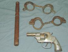 Toy Cap Gun & Handcuff Lot