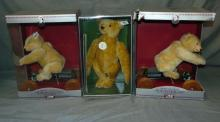 Lot of 3 Boxed Limited Edition Steiff Bears