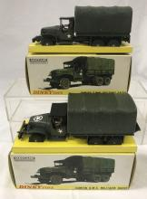 2 French Dinky 809 Camion Military Transports