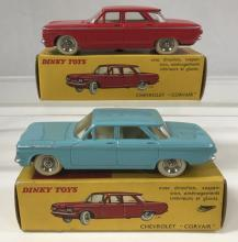 2 Boxed Dinky FR552 Chevrolet Corsairs