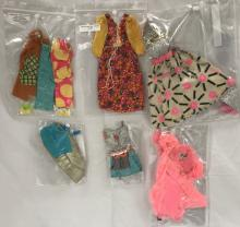 (6) 1960/70's Barbie Doll Outfits