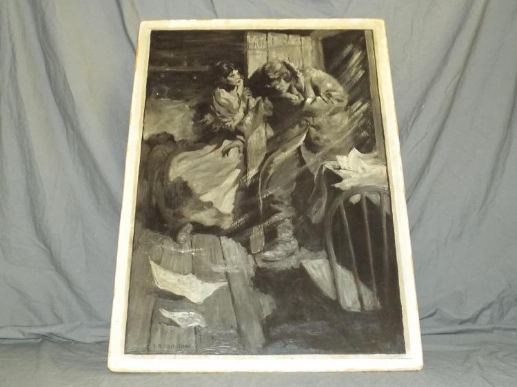 T.D. Skidmore, Original Oil on Board Illustration