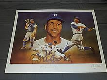 Roy Campanella Hand Signed Ltd Ed Lithograph