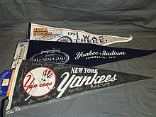 Lot of 3 Baseball Collector Pennants