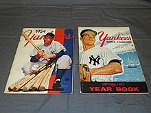 1954 & 1957 New York Yankees Yearbooks