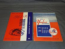 1958 & 1961 New York Yankees Yearbooks