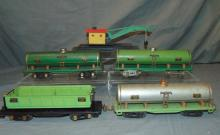 5 Large American Flyer Freight Cars