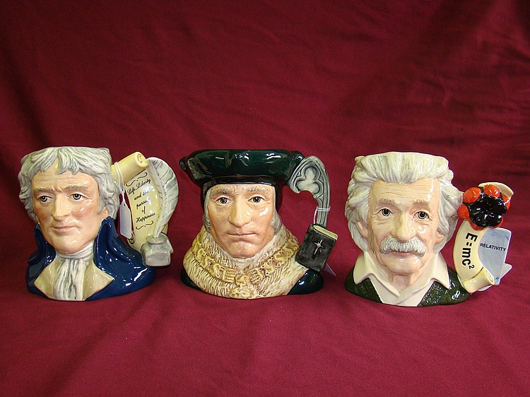 Royal Doulton Mugs. Lot of 3. Jefferson and more.