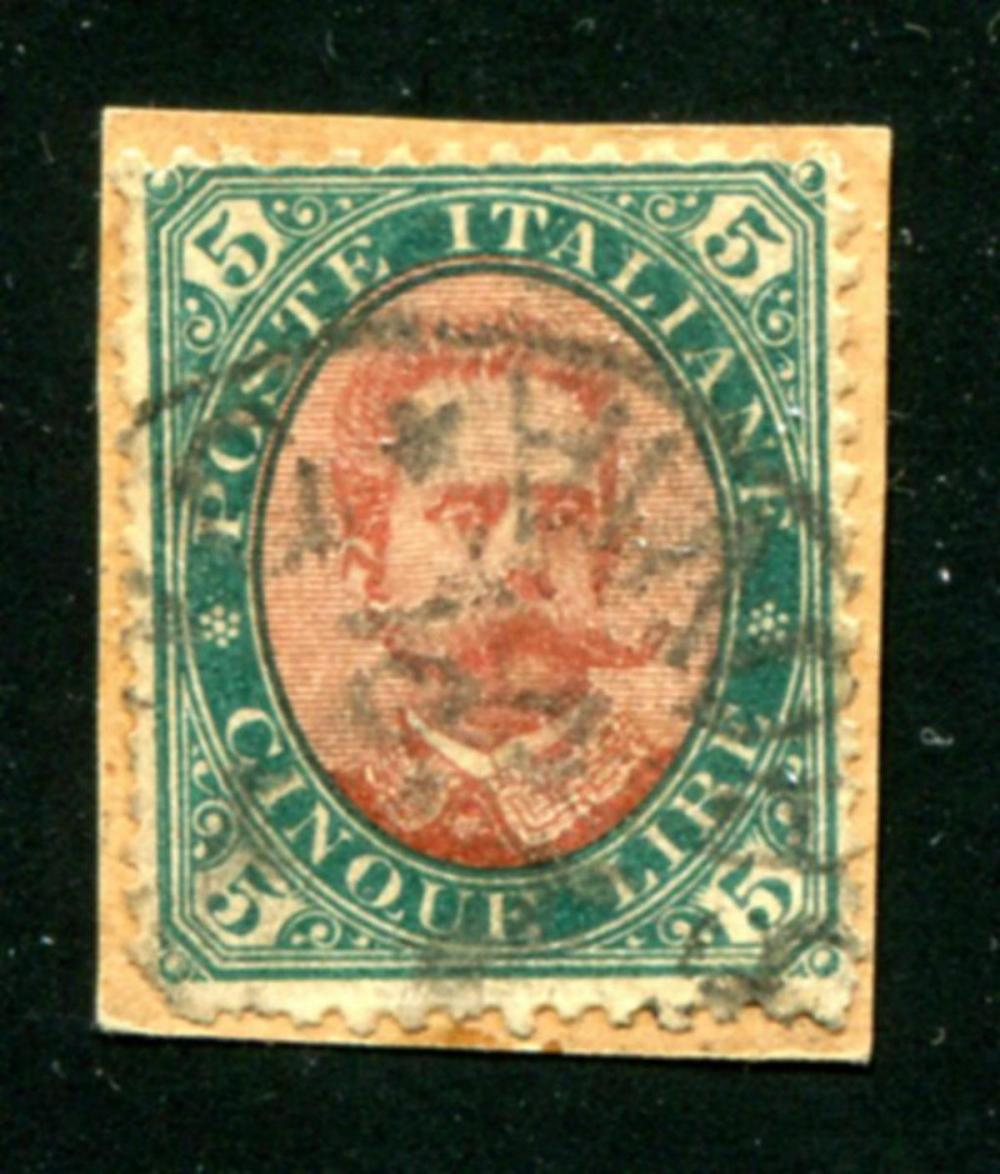 Italy #57 Used on Piece.