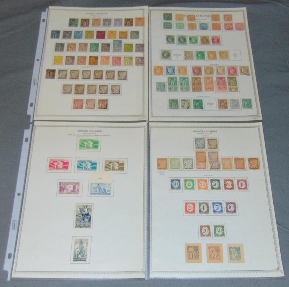 French Colonies Stamp Collection.