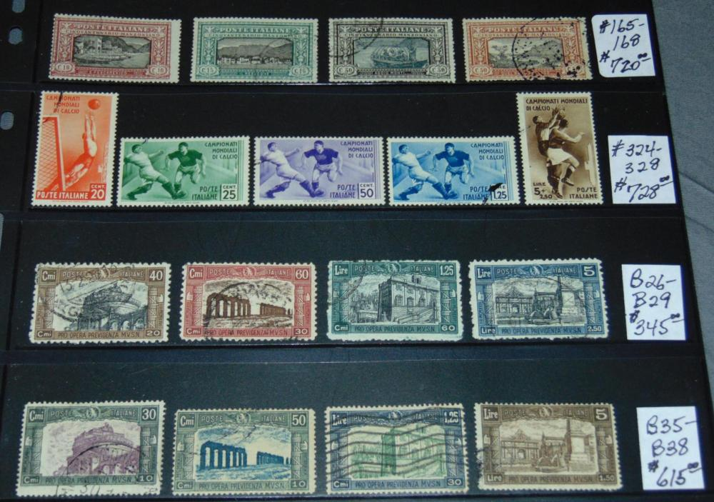 Italy Complete Sets Used.