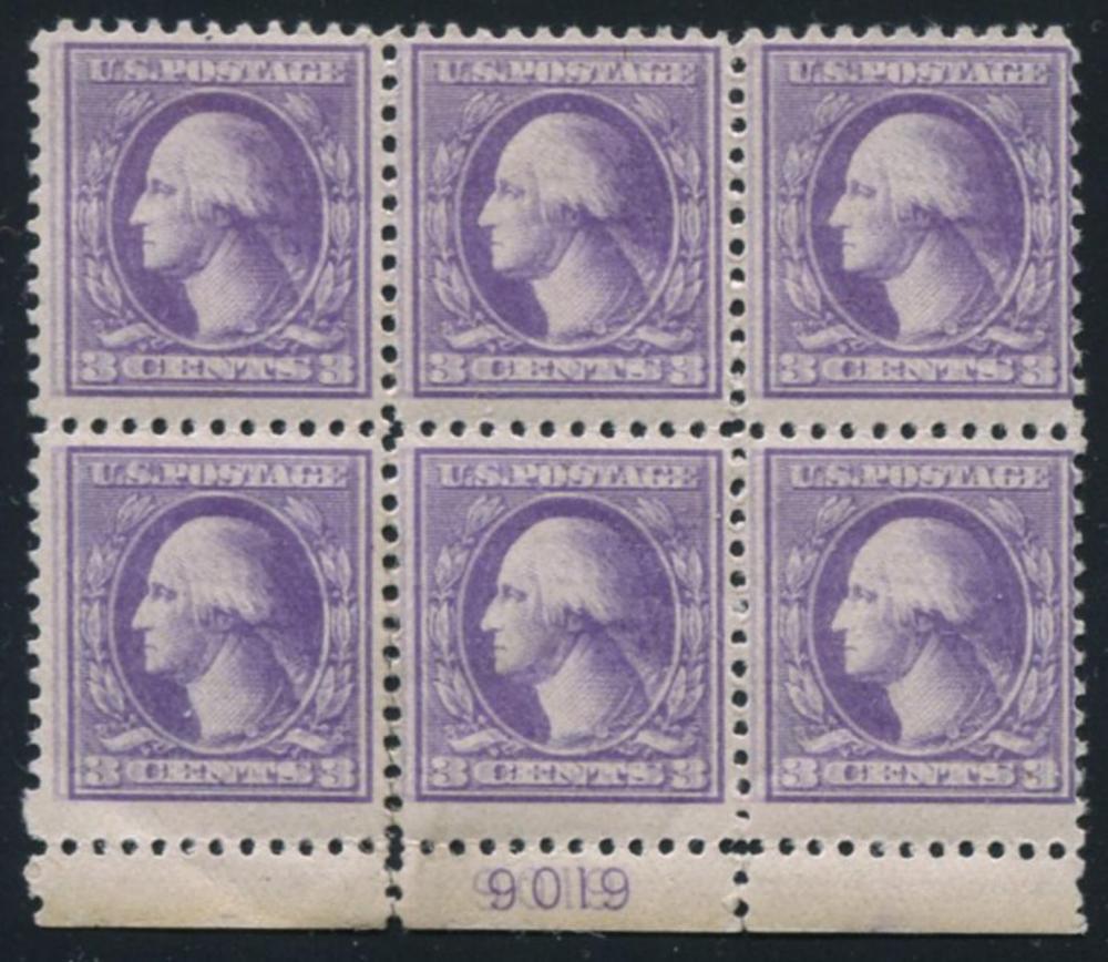 U.S. 603a Plate Block of Six.