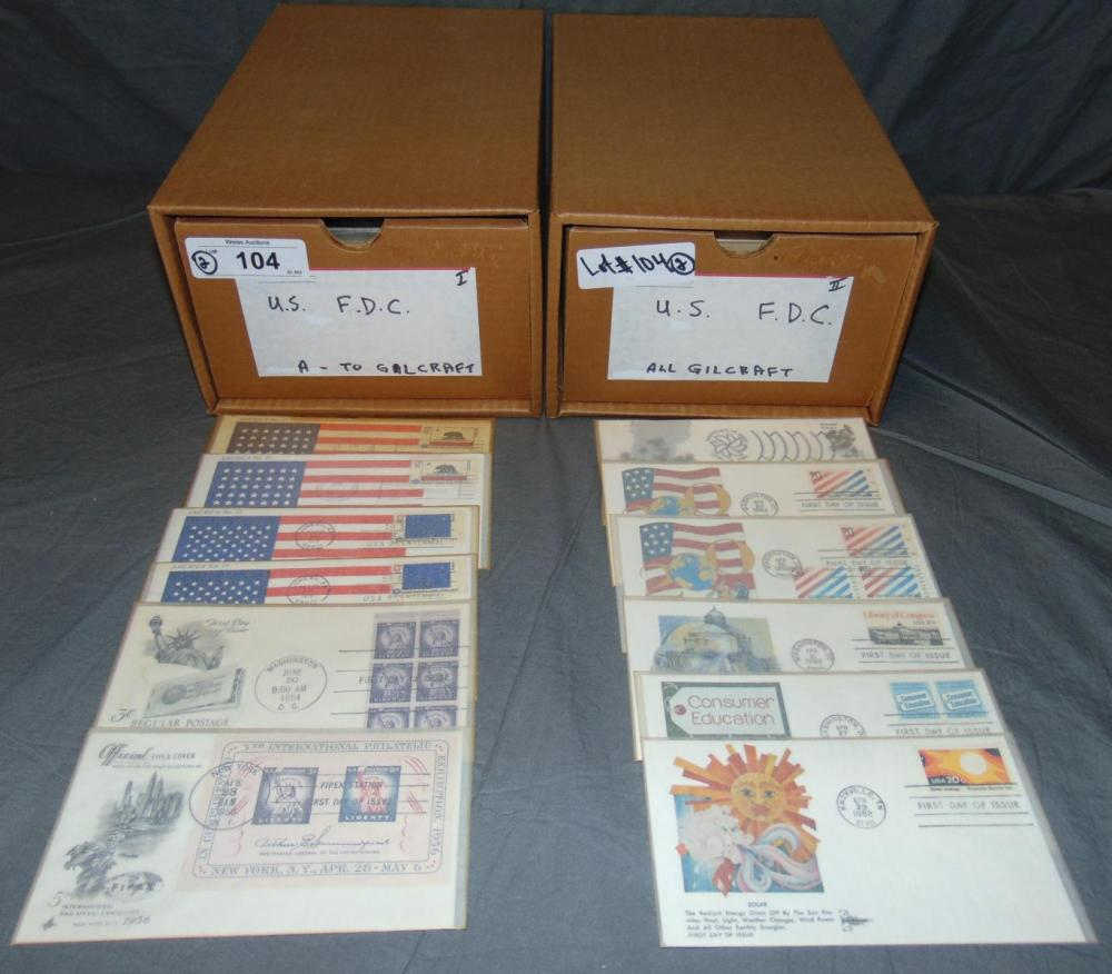U.S. First Day Cover Lot. Gilcraft.
