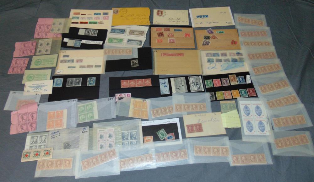 U.S. Lot of Mint Singles, Plates etc.