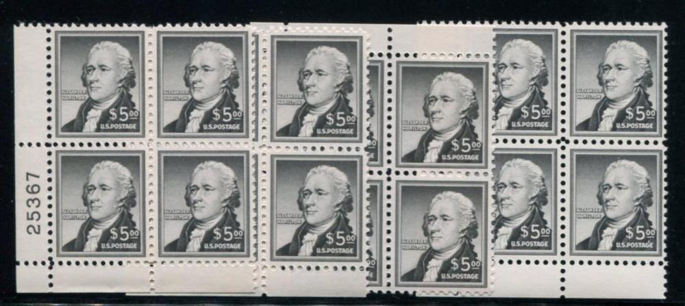 United States 1053 Plate Blocks of Four.