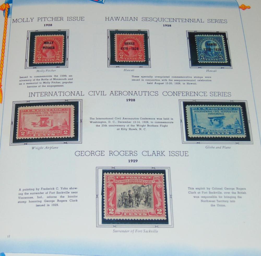 US Stamp Lot in Album.