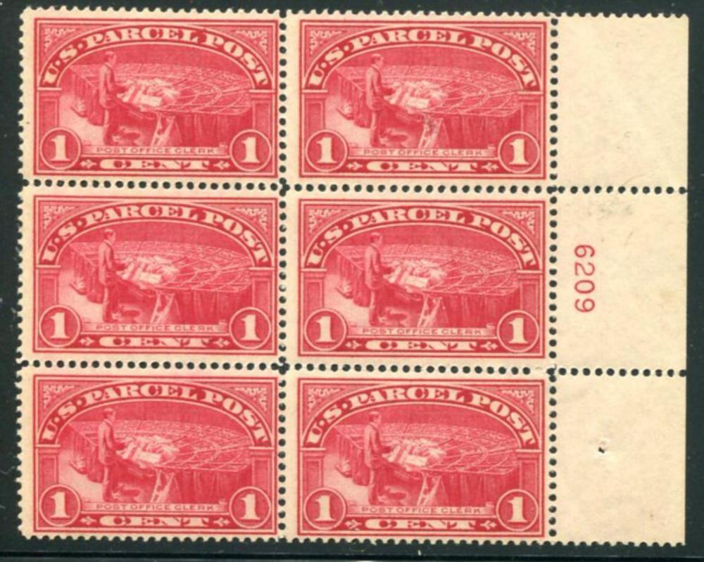 U.S. Q1 Mint NH Plate Block of Six.