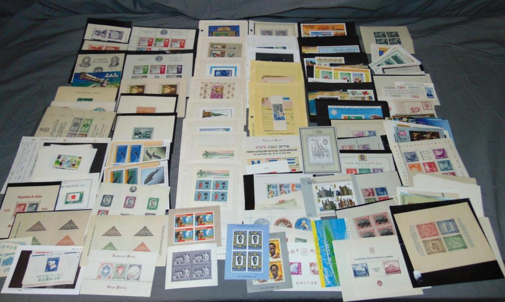 Souvenir Sheet Lot.